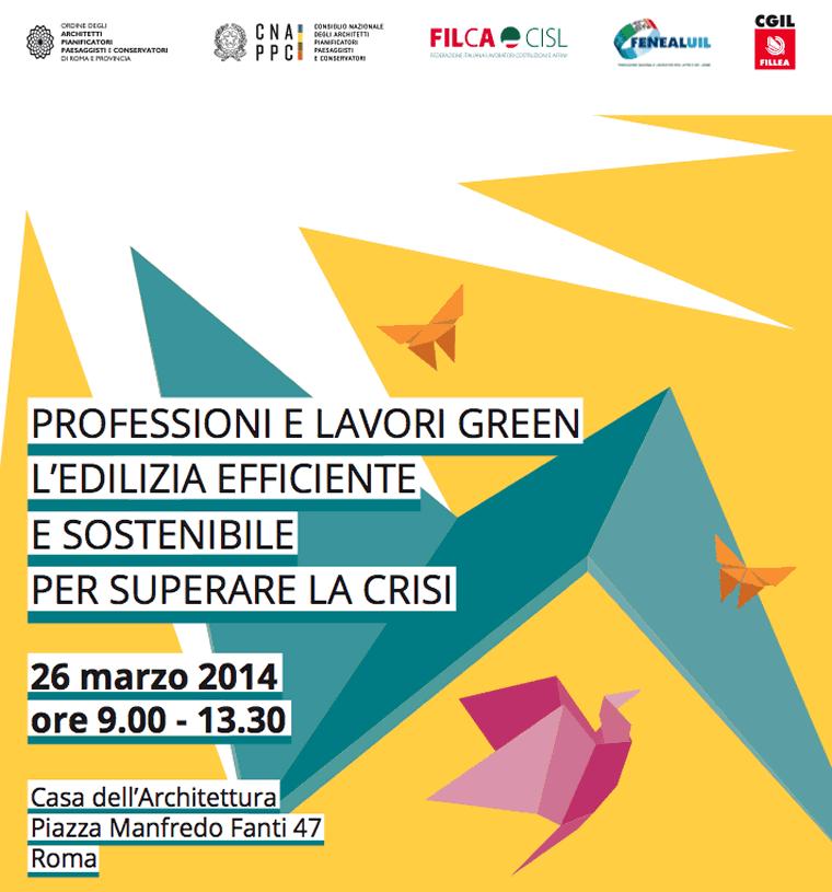 Professioni e lavori green. L'edilizia efficiente e sostenibile per superare la crisi