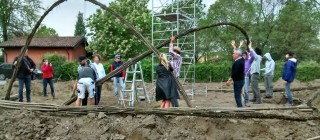 Costruzione in salice a Pieve di Coriano (MN) dal 24 al 27 aprile 2015